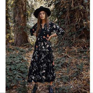 Christy Dawn black floral River dress